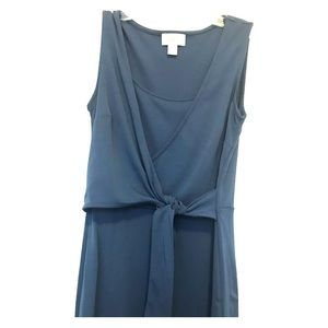 Blue Faux Wrap LOFT Dress